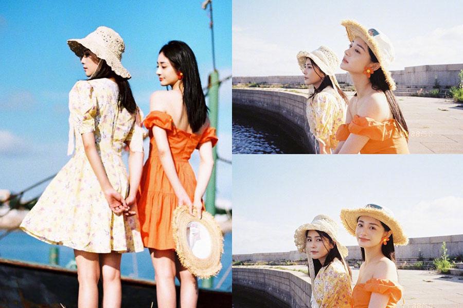 白鹿、周潔瓊夏日姊妹穿搭全靠它!「草帽穿搭」小臉又遮陽,女星x女孩都超愛,渡假風、日系風好配破錶~