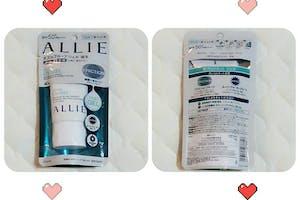 """超開心能收到這次的試用"""" ALLIE EX UV高效防曬水凝乳 SPF50+ PA++++"""",臉部/身體適用 ,溫和不刺激,添加入玻尿酸與膠原蛋白保養成分,好推勻服貼肌膚、保濕、薄透、清爽、不黏膩,重覆補擦也不會過於厚重,微潤色不顯白,塗抹後肌膚變得有光澤、透亮,散發珠光感。超強抗汗.抗水但用一般肥皂、沐浴乳即可輕鬆洗淨,是夏天防晒的好產品,推~"""