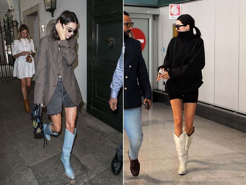 秋冬流行 牛仔靴 金小妹 KendallJenner