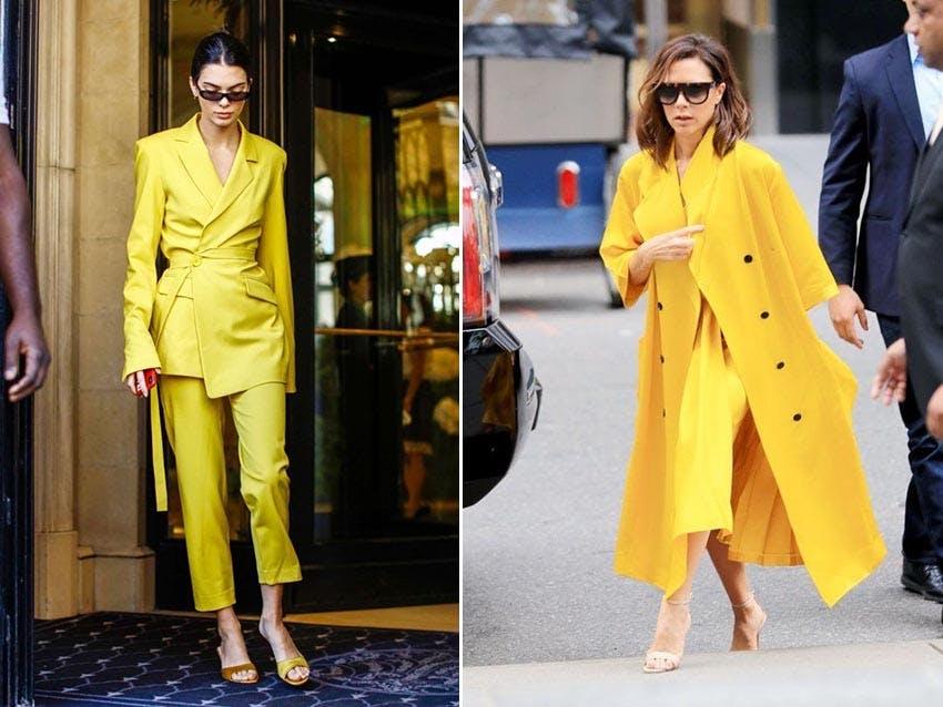 秋冬流行 流行色 2020春夏 MellowYellow 柔黃 復古黃 穿搭 配色