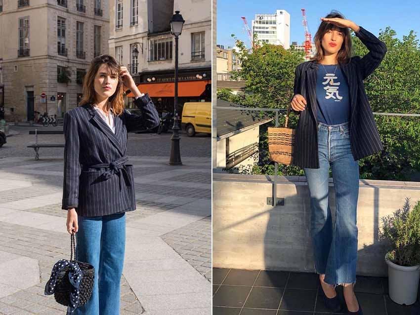 西外 西裝外套 西外穿搭 法國博主 時尚博主 JeanneDamas