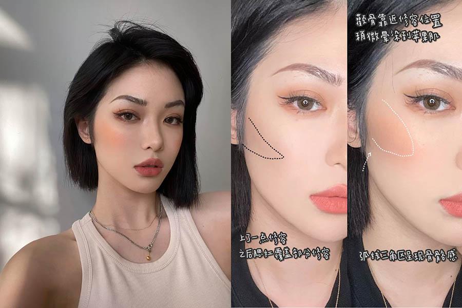 歐美、日系、韓系3大「腮紅修容法」氣色X小臉教程,今天想走哪一風格都是小V臉! 腮紅技巧