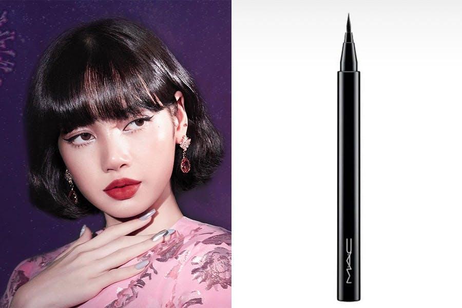 MAC全球代言人LISA首推形象照的同款美妝產品 眼線 MAC 24超細緻眼線液 #Brush-black|美周報