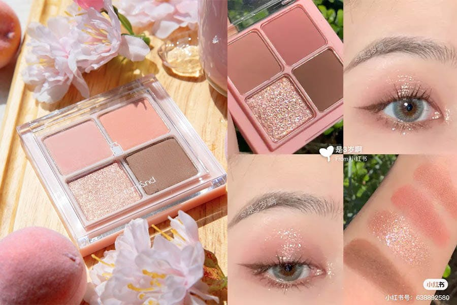 眼妝 眼影 疊擦 技巧 romand 四色眼影盤 M02#Dry Buckwheat Flower 美周報