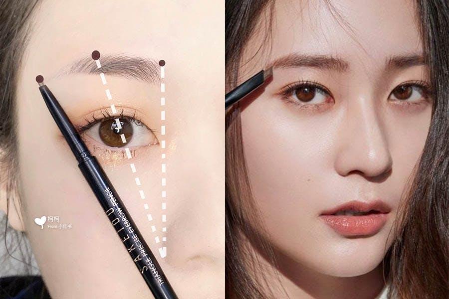 眉毛 畫眉 眉型 眉彩 技巧 三點定位法|美周報