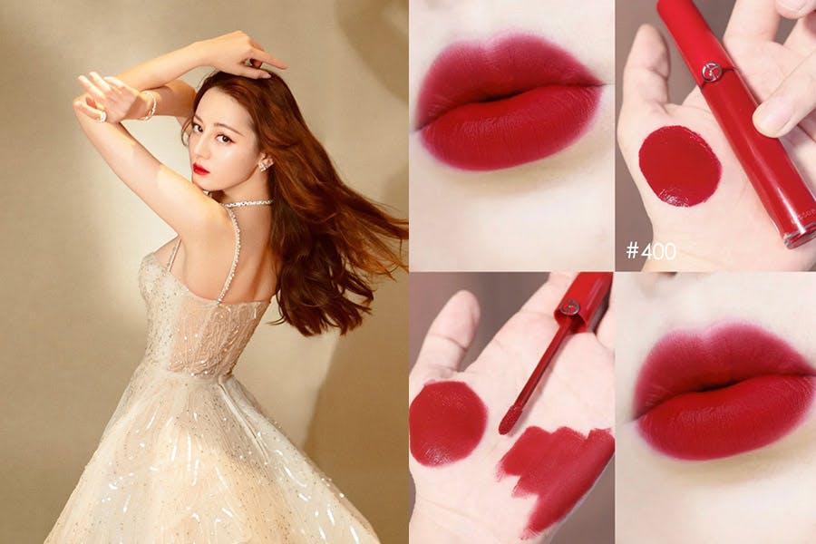 紅唇女星的同款唇膏 迪麗熱巴 GIORGIO ARMANI 奢華絲絨訂製唇萃 #400|美周報