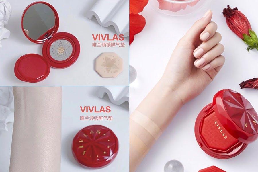 氣墊粉餅推薦 宣美同款VIVLAS唯蘭頌 long wear持久遮瑕保濕氣點粉底|美周報