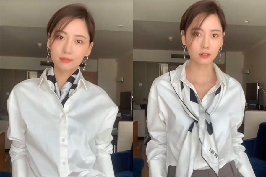 白襯衫穿搭 絲巾作點綴|美周報