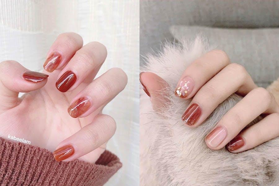 新年美甲 指甲彩繪 紅色 紅棕 |美周報