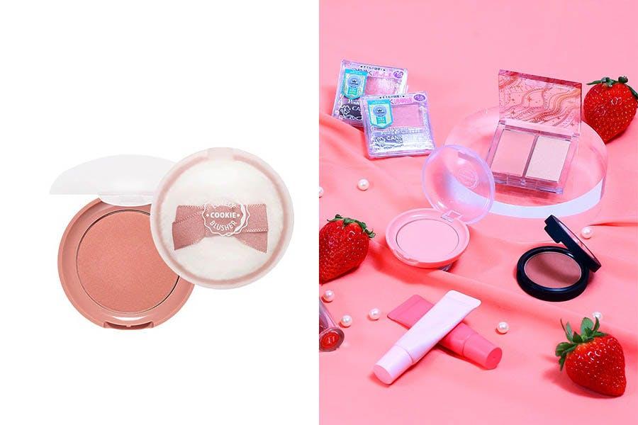草莓粉嫩氣色-ETUDE HOUSE甜心頰功好氣色腮紅餅|美周報