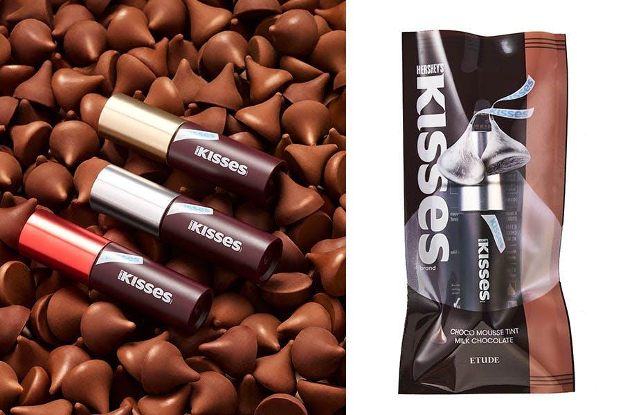 #開架唇膏推薦|Etude X HERSHEY'S KISSES巧克力慕斯唇釉|美周報