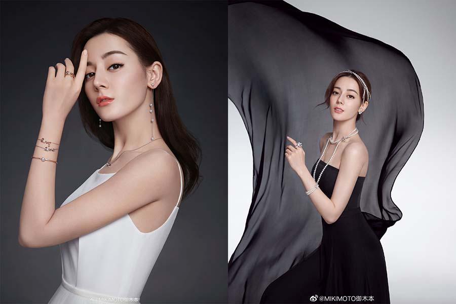 迪麗熱巴小黑禮裙X珍珠飾品,被誇讚為「奧黛莉赫本繼承人」,高雅靠全靠珍珠襯托|珍珠飾品推薦