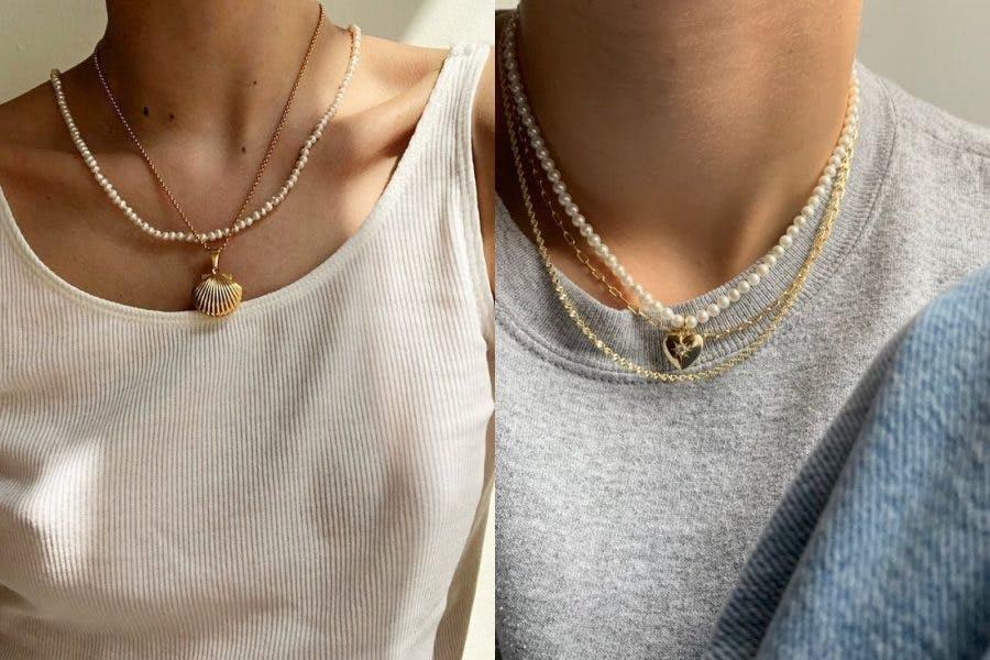 飾品 珍珠 珍珠項鍊 韓妞穿搭