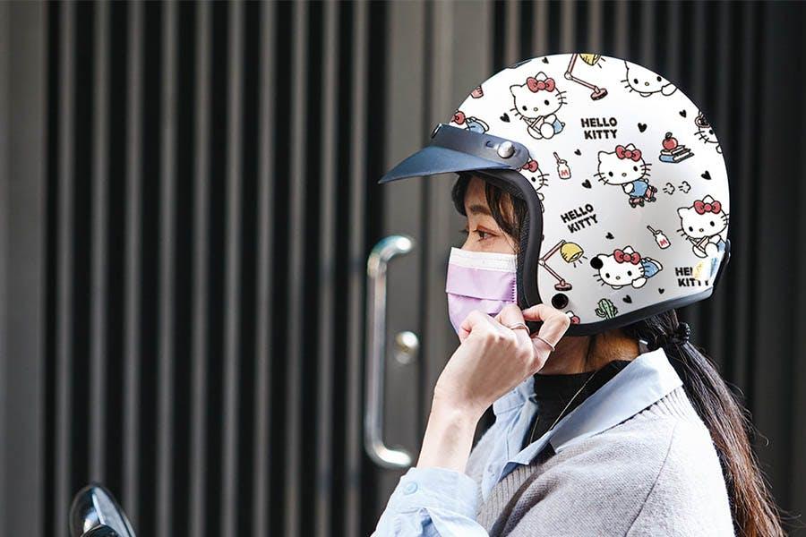 HELLO KITTY半罩式安全帽|美周報