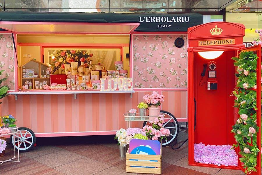 L'ERBOLARIO蕾莉歐快閃「義式粉紅夢幻花店」