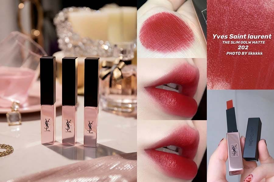 《玫瑰紅唇》推薦 YSL 奢華緞面霧光唇膏 #202 美周報
