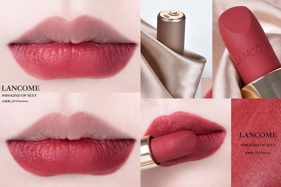 《玫瑰紅唇》推薦 LANCOME蘭蔻 絕對完美柔霧唇膏 #888 美周報