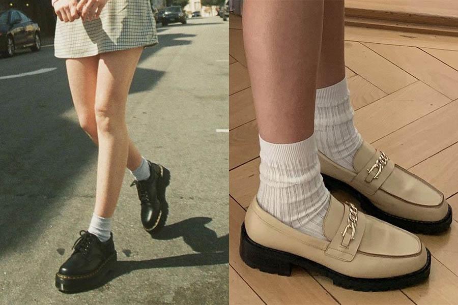 穿搭細節全看鞋襪配!黑鞋X白襪復古有個性、撞色添存在感更吸睛~|襪子穿搭