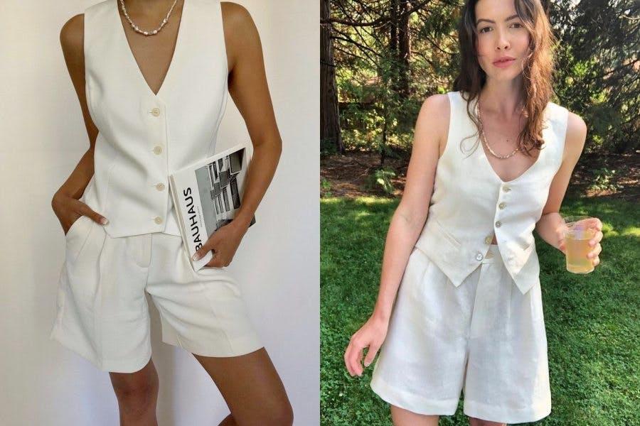 時尚穿搭 夏季穿搭 西裝背心