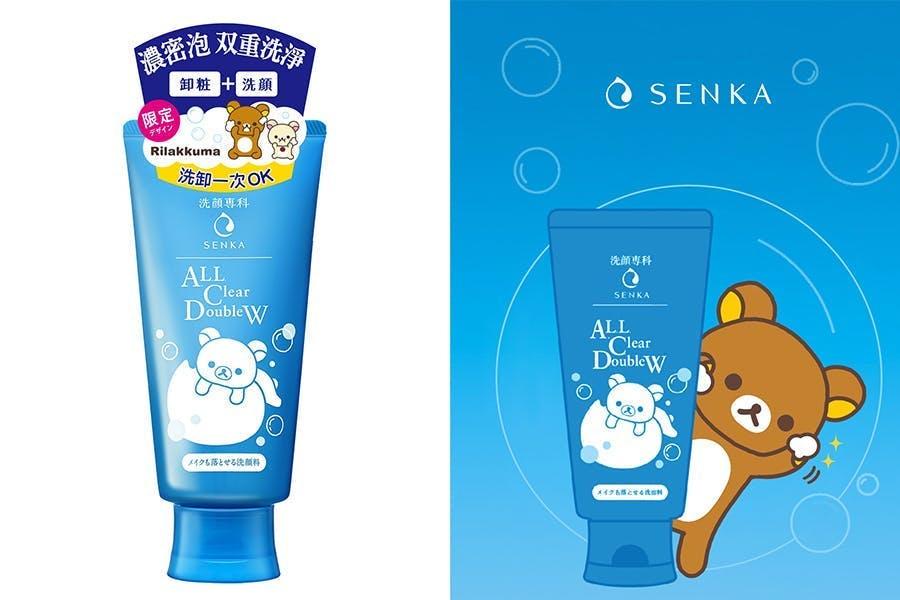SENKA專科 超微米潔顏系列X拉拉熊