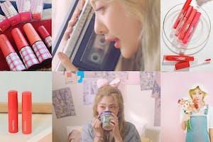 臉紅思春期新作《蝶見花》MV釋出~充滿春日氣息妝容,粉嫩唇色是重點! 唇釉推薦