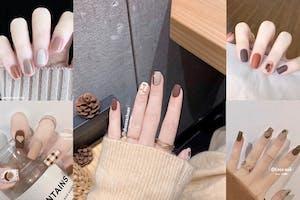 秋天指甲也要換色!「暖咖栗子」還是來杯「太妃榛果拿鐵」?|美甲推薦