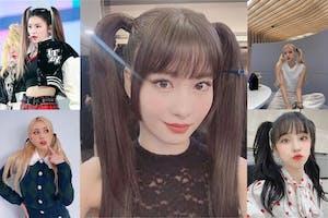 雙馬尾正夯~韓星入坑髮型不同風格,Rosé自帶仙氣、MOMO活力少女|名人焦點